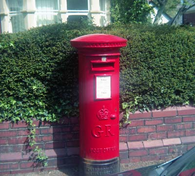 Post Box (George VI), Cardiff, Wales